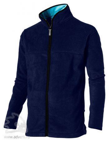 Куртка мужская, Slazenger, темно-синяя с голубым