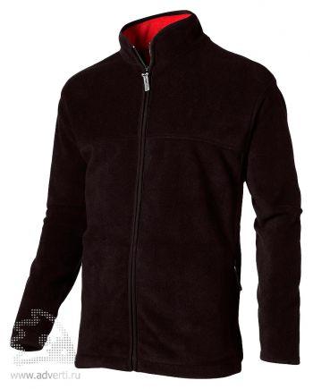 Куртка мужская, Slazenger, черная с красным