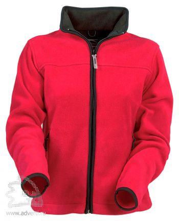 Куртка женская, Slazenger, красная с черным