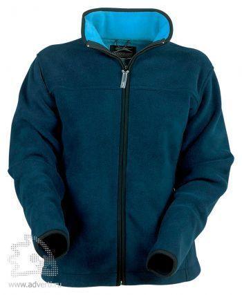 Куртка женская, Slazenger, темно-синяя с голубым