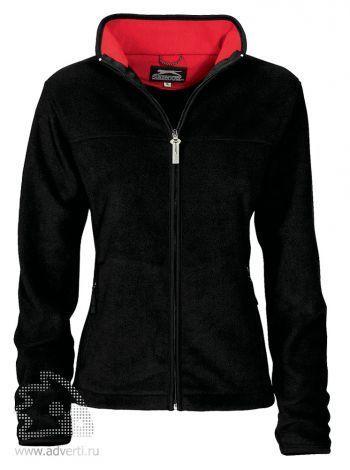Куртка женская, Slazenger, черная с красным