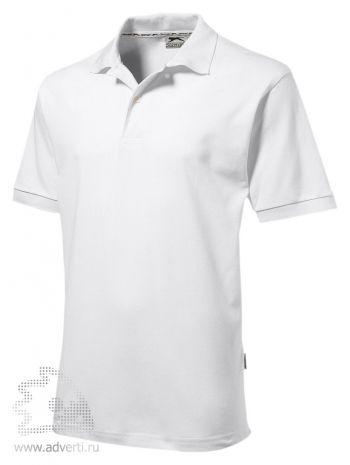 Рубашка поло «Forehand», мужская, белая