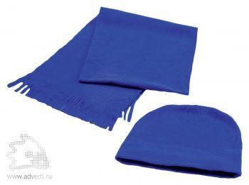 Флисовый набор «Winter»: шапка и шарф в чехле, синий