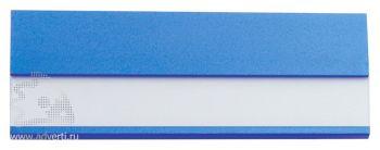 Алюминиевый бейдж, синий