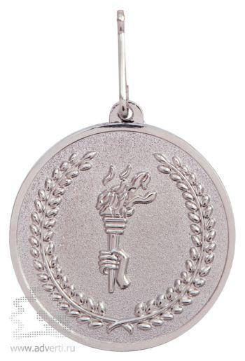 Медаль наградная на ленте, серебро
