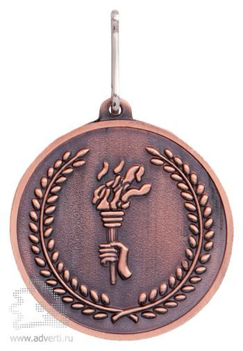 Медаль наградная на ленте, бронза