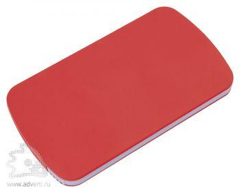 Зеркало с пилкой для ногтей «Визаж», красное, в закрытом виде