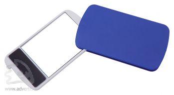 Зеркало с пилкой для ногтей «Визаж», синее, в открытом виде
