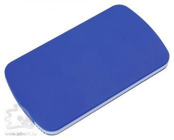 Зеркало с пилкой для ногтей «Визаж», синее, в закрытом виде