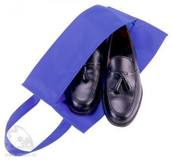 Футляр для обуви на молнии «Happy Travel» открытый, синий