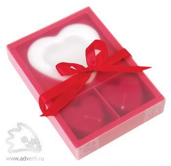 Набор свечей в форме сердца «Love», упаковка
