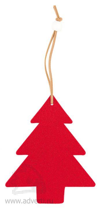 Украшение на елку «Елочка», красное