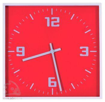 Часы настенные «Квадрат», красные