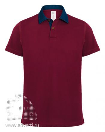 Рубашка поло «DNM Forward/men», мужская, бордовая