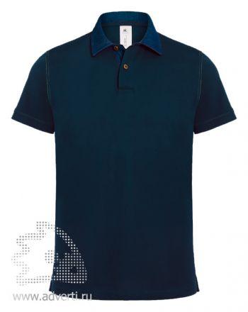 Рубашка поло «DNM Forward/men», мужская, темно-синяя
