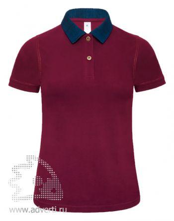 Рубашка поло «DNM Forward/women», женская, бордовая