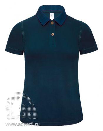 Рубашка поло «DNM Forward/women», женская, темно-синяя