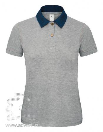 Рубашка поло «DNM Forward/women», женская, серая