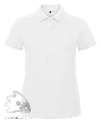 Рубашка поло «ID.001/women», женская, белая