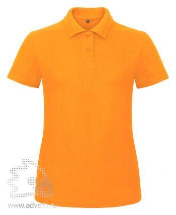 Рубашка поло «ID.001/women», женская, оранжевая
