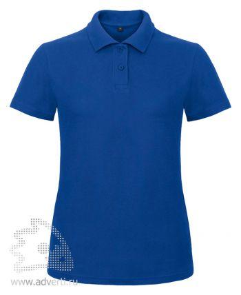 Рубашка поло «ID.001/women», женская, синяя