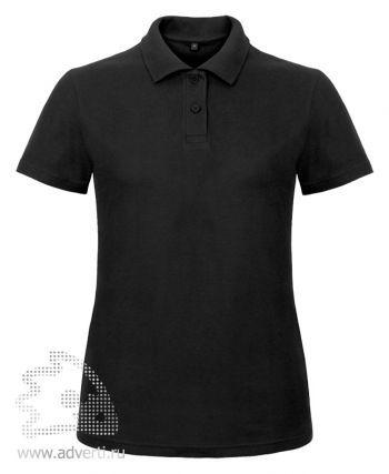 Рубашка поло «ID.001/women», женская, черная