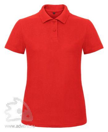 Рубашка поло «ID.001/women», женская, красная