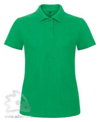 Рубашка поло «ID.001/women», женская, зеленая