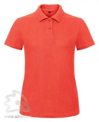 Рубашка поло «ID.001/women», женская, светло-розовая