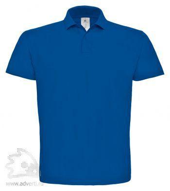 Рубашка поло «ID.001», мужская, синяя