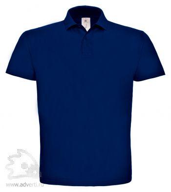 Рубашка поло «ID.001», мужская, темно-синяя