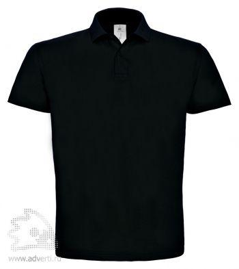 Рубашка поло «ID.001», мужская, черная