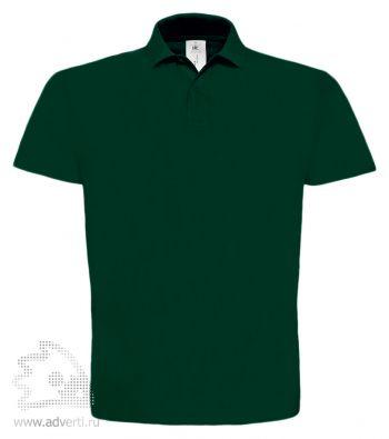 Рубашка поло «ID.001», мужская, темно-зеленая