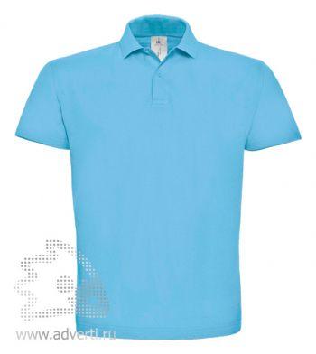 Рубашка поло «ID.001», мужская, голубая