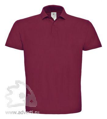 Рубашка поло «ID.001», мужская, бордовая