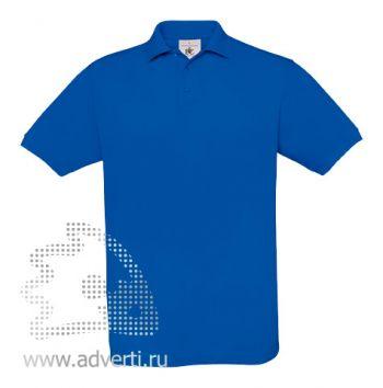 Рубашка поло «Safran», мужская, синяя