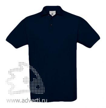 Рубашка поло «Safran», мужская, темно-синяя
