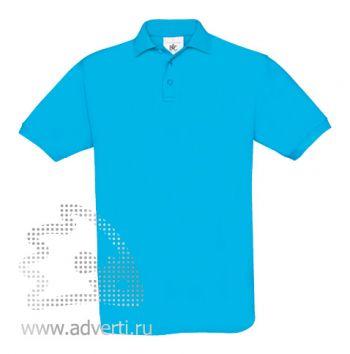 Рубашка поло «Safran», мужская, бирюзовая