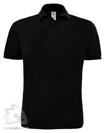 Рубашка поло «Heavymill», мужская, черная