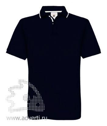 Рубашка поло «Safran Sport», мужская, темно-синяя