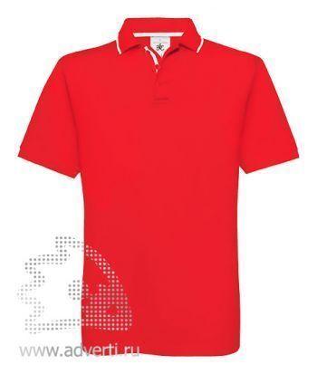 Рубашка поло «Safran Sport», мужская, красная