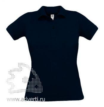 Рубашка поло «Safran Pure/women», женская, темно-синяя
