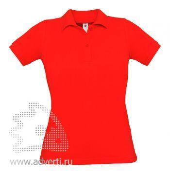 Рубашка поло «Safran Pure/women», женская, красная