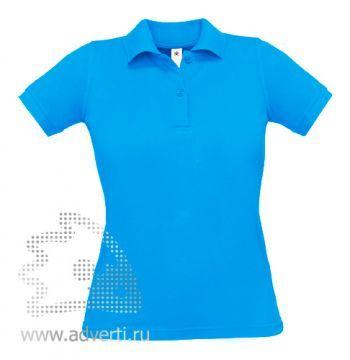 Рубашка поло «Safran Pure/women», женская, бирюзовая