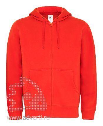 Толстовка «Hooded Full Zip/men», мужская, красная