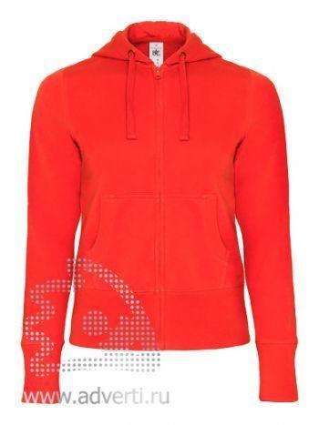 Толстовка «Hooded Full Zip/women», женская, красная