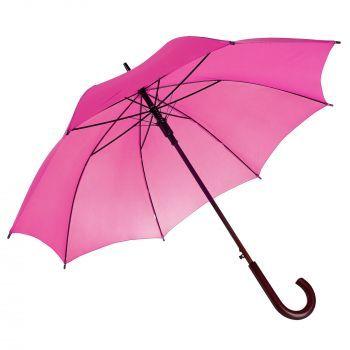Зонт-трость «Unit Standard», полуавтомат, ярко-розовый