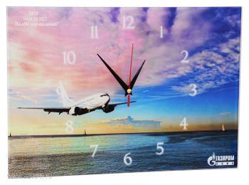 Часы стеклянные прямоугольные