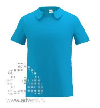 Рубашка поло «Stan Primier», мужская, лазурная
