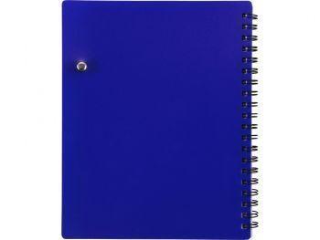 Блокнот «Контакт» с ручкой, синий, сзади